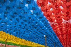Paper lanterns at Buddhist temple of Seokguram, South Korea Stock Photos