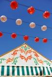 Paper lanterns, Caseta, Fair in Seville, Andalusia, Spain Royalty Free Stock Photo