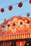 Paper lanterns, Caseta, Fair in Seville, Andalusia, Spain Stock Image