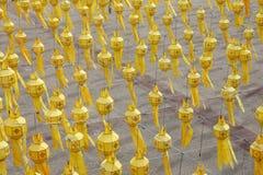 Paper Lanterns, Chiang Mai. Paper lanterns over Tha Pae Gate square for the Loi Krathong festival, Chiang Mai, Thailand Stock Photo