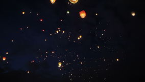 Paper lanterns stock video footage