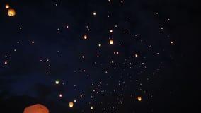 Paper lanterns stock video