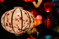 Paper lanterns. Colorful paper lanterns in vietnam stock photo