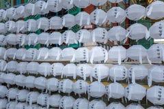 Paper lanterns hanging at Jogyesa Buddhist temple, Seoul, Korea Stock Photos