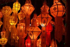 Paper lanterns stock photography