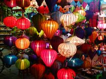Paper lanterns. Paper lanters  in Hoian Royalty Free Stock Photography