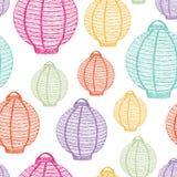 Paper Lanterns pattern Royalty Free Stock Photo