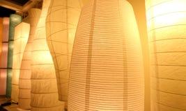 Paper lantern lamp light indor lighting Royalty Free Stock Photos