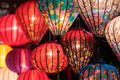 Paper lanterns on the streets of Hoi An Royalty Free Stock Photo