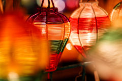 Paper lanterns on the streets of Hoi An. Colorful paper lanterns in Hoi An, Vietnam Royalty Free Stock Images