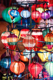Paper lanterns on the streets of Hoi An Stock Images