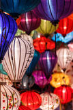 Paper lanterns on the streets of Hoi An Stock Image
