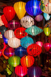 Paper lanterns on the streets of old Asian  town. Paper lanterns on the streets of old Asian town Royalty Free Stock Image