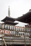 Paper lanterns in Tokyo Stock Photo