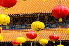 Paper lanterns in in Wong Tai Sin Temple Royalty Free Stock Images