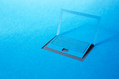 Paper laptop Stock Photography