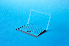 Paper laptop Royalty Free Stock Image