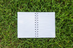 Paper on the lawn background. Royalty Free Stock Image