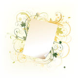 Paper leaf frame Stock Images
