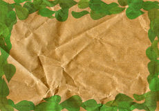 Paper and leaves Royalty Free Stock Photography