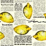 Paper lemons Stock Images