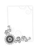 Paper letter frame. Letter paper with design twirls on it Stock Photography