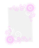 Paper letter frame. Letter paper with design twirls on it Royalty Free Stock Photo