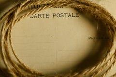Paper letter old postal Stock Image