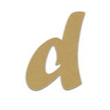 Paper letter ,paper alphabet , paper design for web ,Stickers, Tags Stock Images