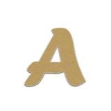 Paper letter ,paper alphabet , paper design for web ,Stickers, Tags Stock Photography