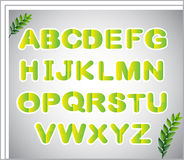 A paper with the letters of the alphabet Stock Photos