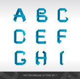 Paper letters origami Royalty Free Stock Photography