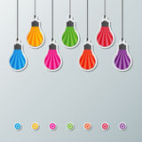 Paper light bulbs Royalty Free Stock Photography