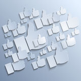 Paper Like symbols on grey background Royalty Free Stock Image