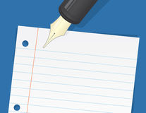 Paper Lined Pen Royalty Free Stock Photography
