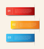 Paper lines and numbers design template. Vector illustrat Royalty Free Stock Image