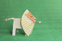 Paper lion Stock Photography