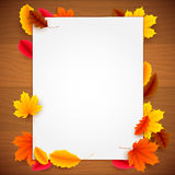 Paper List on Autumn Background Stock Images