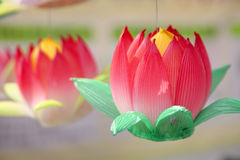 Paper lotus lantern Royalty Free Stock Photography