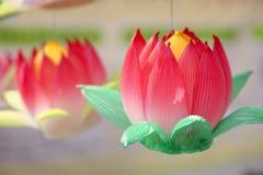 Paper lotus lantern Royalty Free Stock Photography