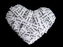 Paper love heart Stock Image
