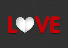 Paper love heart Royalty Free Stock Photography