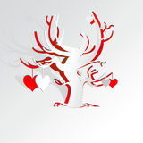 Paper love tree Royalty Free Stock Photo