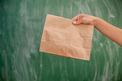 Paper luch bag ready to go Stock Photography