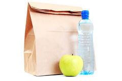 Paper lunch bag Royalty Free Stock Photos