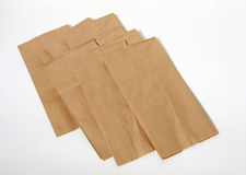 Paper lunch bags. It is paper lunch bags background Royalty Free Stock Photo