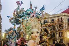 Paper mache figures in Las Fallas, Valencia, Spain Stock Image