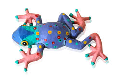 Paper Mache Frog Stock Photography