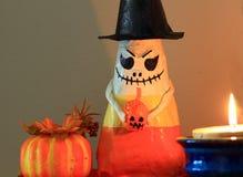 Paper Mache Halloween Candy corn man Stock Photos