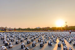 1600 Paper Mache Pandas campaign showcase at Bangkok Royalty Free Stock Photo